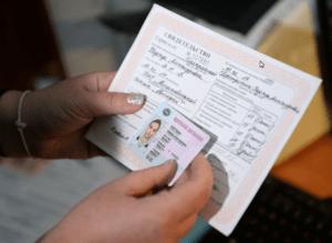 замена водительского удостовереня